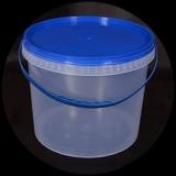 Ведро прозрачное синяя крышка