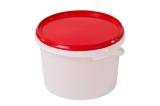 Ведро пластиковое круглое с крышкой 3 л