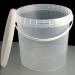 Ведро пластиковое с крышкой 0,8 л, с контрольным замком