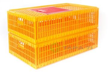 Ящик для перевозки живой птицы макси Птичник закрытый в рабочем/транспортном штабелируе