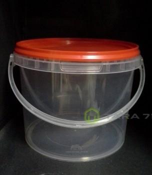 Ведро пластиковое с крышкой 0,4 л, с контрольным замком