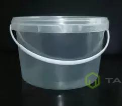 Ведро пластиковое с крышкой 0,87 л