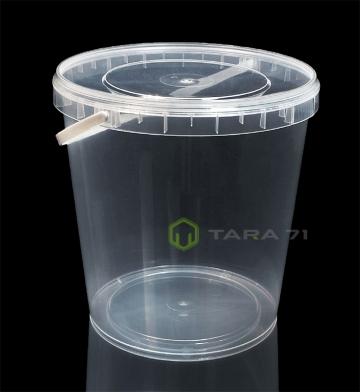 Ведро пластиковое с крышкой 1,1 л