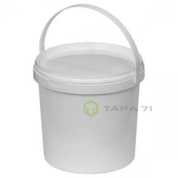 Ведро пластиковое с крышкой 12,00 л белое