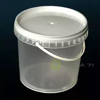 Ведро пластиковое с крышкой 1,2 л