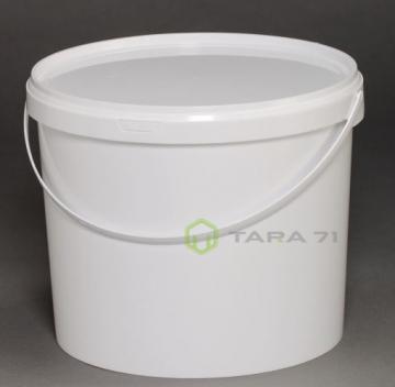 Ведро пластиковое с крышкой 5,60 л белое