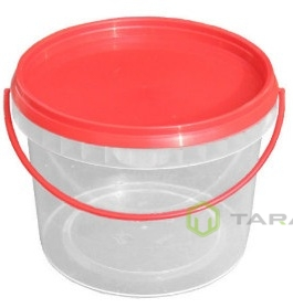 Ведро пластиковое круглое с крышкой 2,3 л