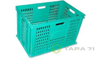 Ящик для овощей с отверстиями бирюзовый