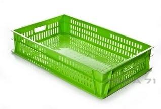 Ящик для ягод и овощей с крышкой (дно сплошное)