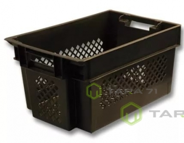 Ящик высокий с крышкой для овощей, зелени и винограда (решётка)