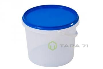 Ведро пластиковое круглое с крышкой 3,4 л
