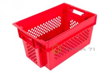 Ящик с крышкой высокий для ягод (сплошное дно)